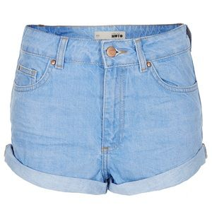 ✨2/$50✨ High waisted shorts in light blue -TOPSHOP
